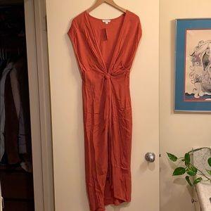 Cotton Candy LA Rust Goddess Midi Dress